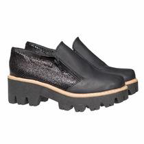 Borcego Borceguito Plataforma Zapatos Almacen De Cueros