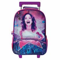 Mochila Violetta Violeta Disney 16 Con Ruedas-carrito