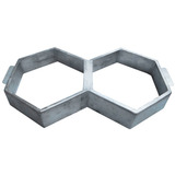 Forma Sextavada Dupla Piso Concreto Alumínio Molde Calçada