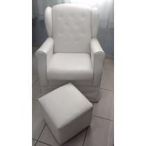 Cadeira De Amamentação Com Balanço E Puff