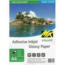 Papel Fotográfico Adesivo A4- Glossy- Frete Grátis