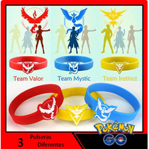 Set De 3 Pulseras De Silicón Pokemon Go - Envío Gratis
