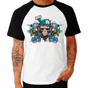 Camisa Monkey Mnk Camiseta Swag Rap Raglan Personalizada