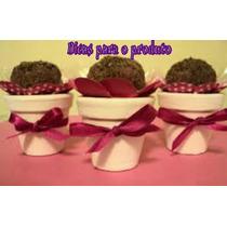 Mini Vaso P/ Lembrancinha De Casament A/4.5cm Boca/5cm F/3cm