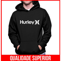 Moletom Hurley Masculinos Blusa Frio Canguru Casacos Moleton