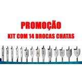Kit Com 14 Brocas Chatas P/ Madeira Starfer - Promoção
