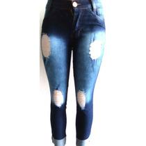 Kit 10 Capri Cigarrete Jeans Com Lycra C/ Frete Gratis