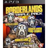 Borderlands Triple Pack - Playstation 3 Envío Gratis