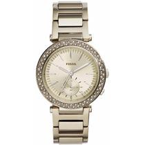 Reloj Fossil Es3914 Original Mujer Caja Nuevo Dorado Pálido