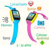 Localizador Gps Con Cámara Para Niños Celular Android Reloj