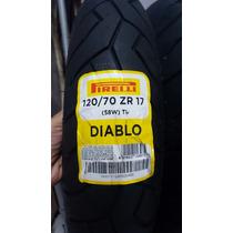 Pneu Dianteiro Pirelli 120/70-17 Diablo Hornet Cbr R1 Ninja