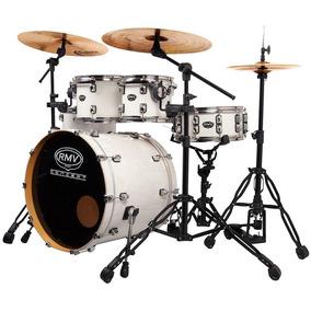 Bateria Rmv 3 Tons New Concept White Pearl Crome Branca Pyx0