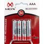 Pilha Bateria Pequena Aaa 1000 Mah C/4 Mox Recarregável