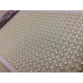 Cartelas Com 1000 Perolas De Meia Pérola Para Artesanato
