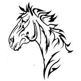 Ca01976 - Painel Cavalo Vazado - Arte Em Ferro