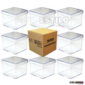 100 Caixinha De Acrilico 5x5 Caixinha Acrilica Tubetes