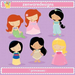 Kit Imprimible Princesas Disney 22 Imagenes Clipart