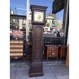 Antiguo Reloj De Pie Carrillon De Roble Funciona Perfecto