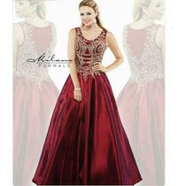 Vestido Xv Años, Talla 7 Color Vino, Remate!!