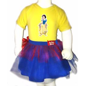 Disfraz Halloween Para Bebes - Pañalero+tutu- Blanca Nieves