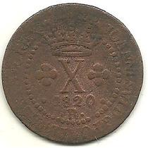(59) Moeda Cobre Brasil 20 Réis 1820 R C-502
