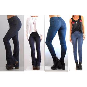 Calza Simil Jeans, Oxford-chupín/rectas Pantalón Azul/negra
