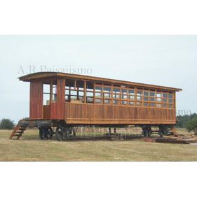Vagon Madera Cabaña Solo Casco, Oficina Tipo Galpon 7x3 21m2