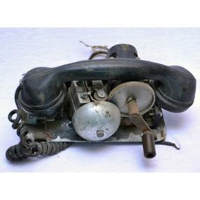 Antiguo Teléfono De Manivela