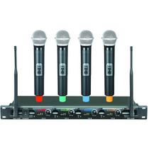 Microfone Sem Fio Profissional 4 Canais Uhf Icm Iu4008 Loja