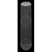 Lustre Cristal Iluminacao Led Escada Cozinha G2/60 2,8m New
