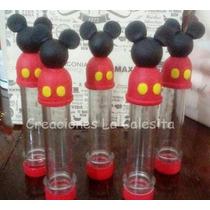 Tubos Golosineros Mickey Mouse O Minnie Souvenir Candy Bar