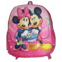 Mochila Escolar Infantil Minnie 35x30x10 Pequen Bebe Creche