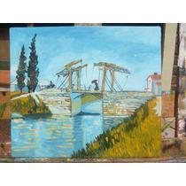 Cuadro Paisaje Pintado Al Óleo S/cartón De Vincent Van Gogh