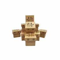 100 Caixas De Noivos Corte Traçado Passa Fita 7x7x5,5 Mdf