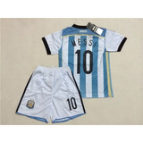 Conjunto Camiseta Y Pantalon Para Chicos Argentina Messi 10