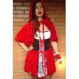 Fantasias Feminina Chapeuzinho Vermelho Pronta Entrega