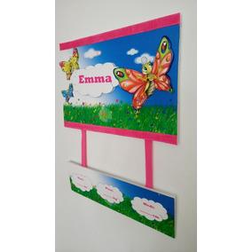 Cartel De Bienvenida Bebe, Nacimiento,puerta Clínica Nena