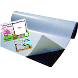 Imã De Geladeira 5 Folhas Manta Magnética Adesivada A4 0,3mm