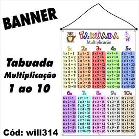 Banner Para Criança Impresso Em Lona Digital Tabuada Will314