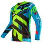 Camisa Fox 360 Divizion 16 Azul/amarelo M(m) Rs1