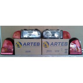 Lanterna Seta Farol Gol Bola 96/99 Orig Arteb Kit Completo