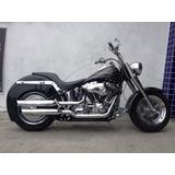 Harley-davidson Softail Fat Boy Customizada 2004 - Preta