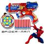 Arma Brinquedo Pistola Nerf Atira Dardo Spider Man Avengers