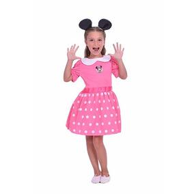 Disfraz Minnie Mouse Rosa Y Blanco Original Talle 1 4/6 Años