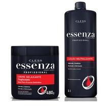 Creme Relaxante Tioglicolato Essenza 480 + Neutralizante 1lt