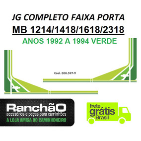 Faixa Porta Caminhão Mb 1214 1418 1618 2318 1992.. Verde(jg)
