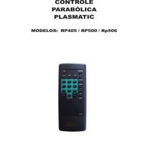 Controle Remoto Receptor Plasmatic Rp405 Rp500 Rp506