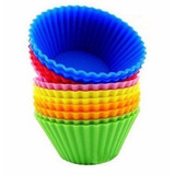 Kit 12 Formas Silicone Cupcake Muffins Forminhas Bolo - 9 Cm
