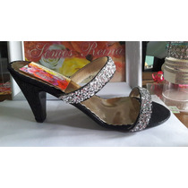 Sandalias De Dama Con Cristales