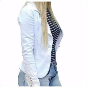 Blazer Feminino Colorido Com Renda Fashion Terninho Slim